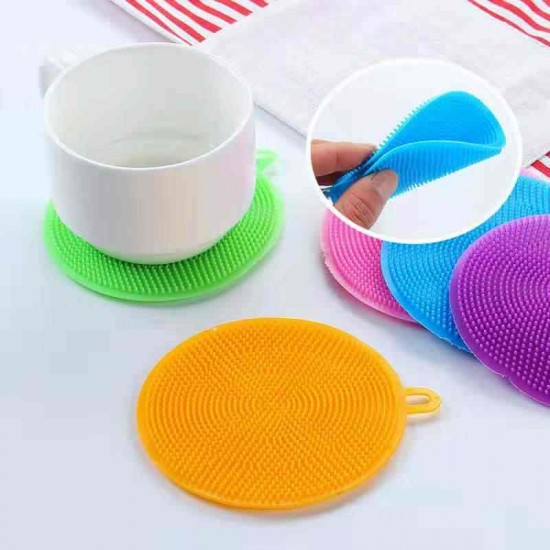 3 Pieces Magic Silicone Dish Sponge Washing Brush Scrubber