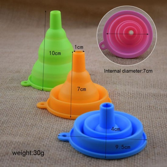 Handy Foldable   Collapsible Silicone Funnel