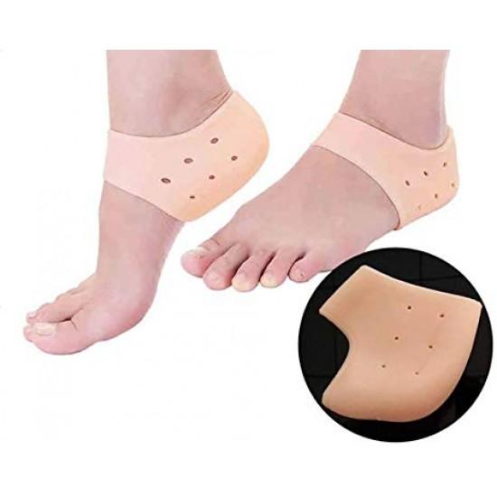 Silicone Half Heel Anti-Crack Foot Care (Set 1 Pair )
