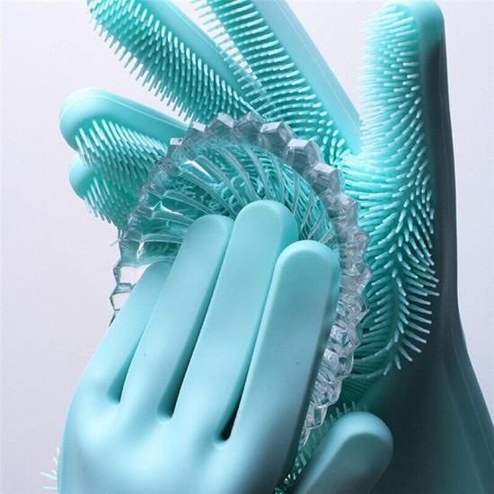 Washing  Gloves Silicon Pink, Blue, Green, purple