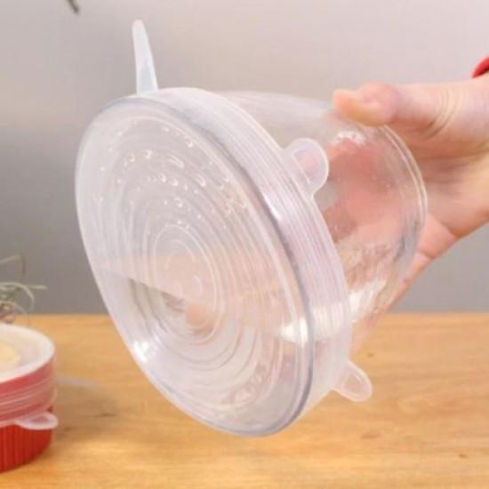 Food Grade Silicone 6pcs Reusable Storage Lids