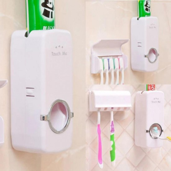 Automatic Toothpaste Dispenser With Tooth Brush Holder JX-200