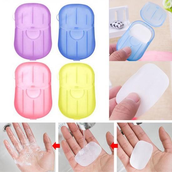 AlClean Travel Soap Paper Washing Hand Bath Clean Scented Slice Sheets 20pcs 1 Disposable Box Soap Portable Mini Paper Soap