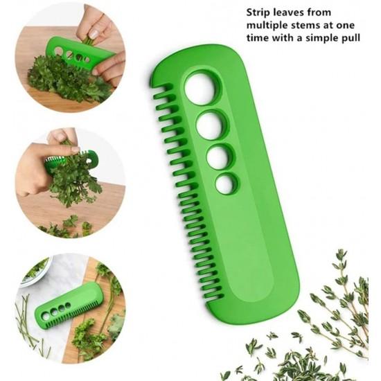Vegetable Cutter Leaf Separator Kitchen Tool Vegetable Leaf Peeler Comb Collard Greens Leaf Herb Comb