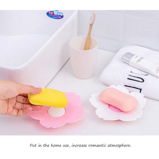 [High Quality] PinkWhite flower soap dish