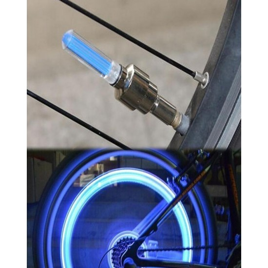 4 Pcs Car Bike Cycle Glow In The Dark Luminous Car Waterproof Tyre Led Valve Cap Motion Running Sensor Activated Wheel Spokes Neon Light