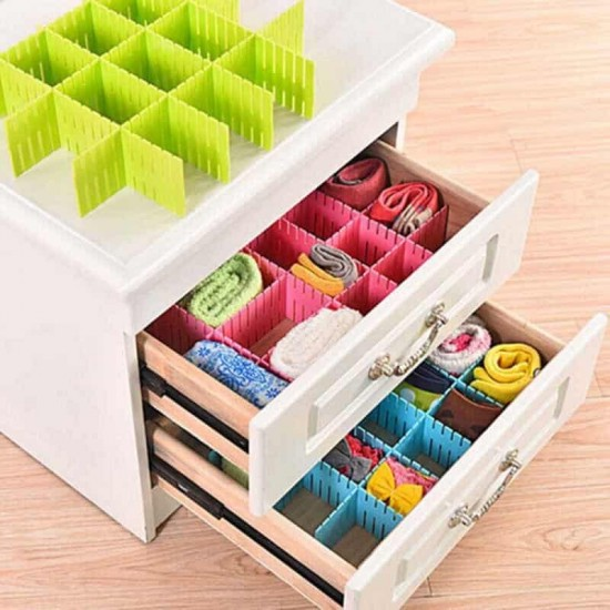 4pc Drawer Dividers Organizers Plastic