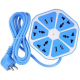 NOKAI Multi Power Plug Extension 4 Power Sockets   4 USB Ports 2.4 Amp