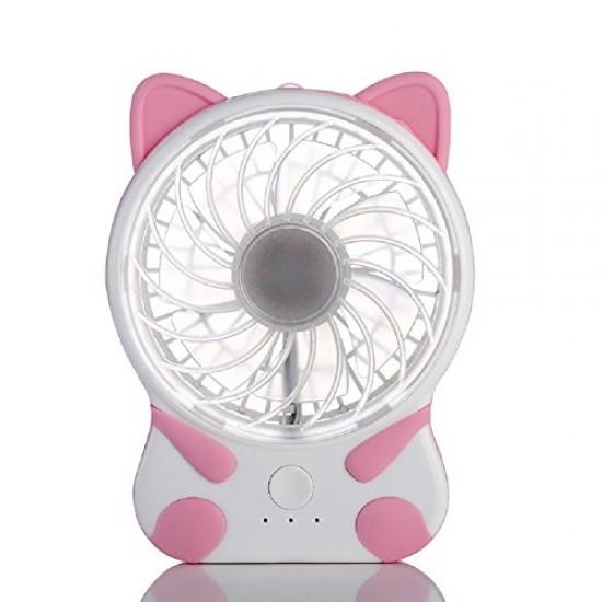 Handy Cat Portable Fan,Handheld Mini USB Rechargeable