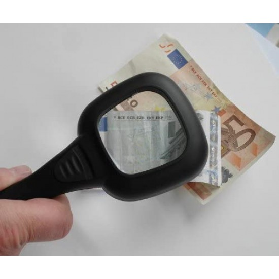 B24810 Magnifying glass, LED  UV, illuminated, suitable for checking currency and money