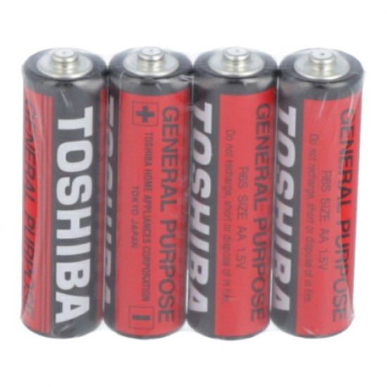 TOSHIBA AA Batteries (Red) 4 Pc