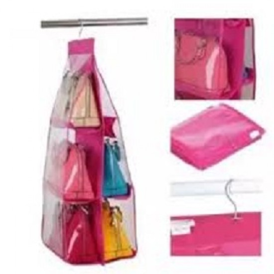 New high quality Multipurpose 6 hanging hand bags pocket organizer for bag