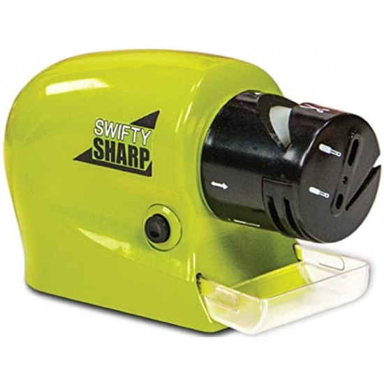 Swifty Sharp Motorized Knife Sharpener  Green and Black
