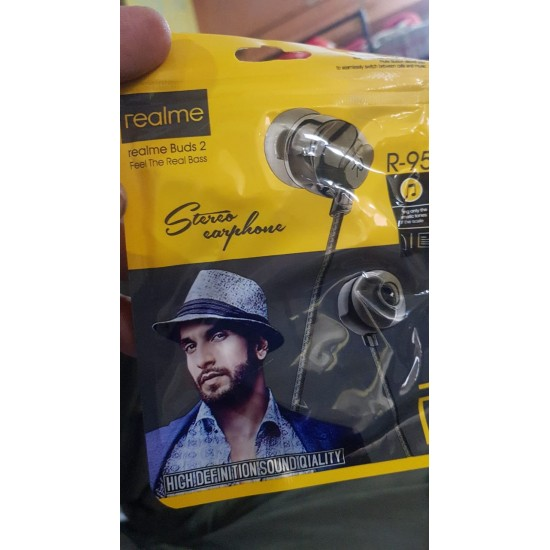 Real-me earbuds 3.5mm Jack with Mic Handsfree