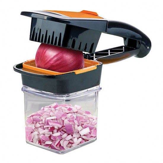 Quick Nutri Chopper 5 in 1 Handheld Kitchen Slicer, Multi-purpose Food Chopper, Fruit   Vegetable Slicer