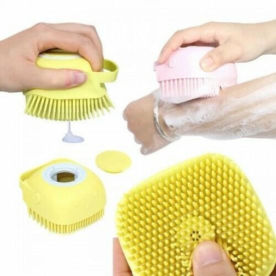 Silicone Massage Bath Brush Liquid Soap Dispenser