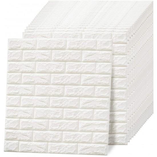 3D Brick Wall Sheet Self Adhesive PE Foam Pack of 10