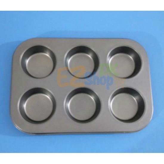 6 Cavity Cup Cake Tray