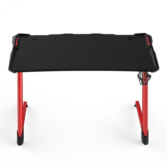 1st Player GT1-1264 (Red   Black) Carbon Fiber Gaming Desk