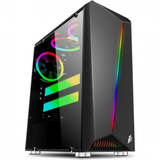 1st player R3 (Black) ATX with 3 Fans Mid-Tower Gaming Case