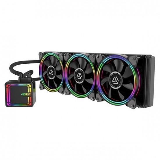 ALSEYE H360 AIO Liquid CPU Cooler RGB Fan Water Cooling 120mm PWM Fan Water Cooler
