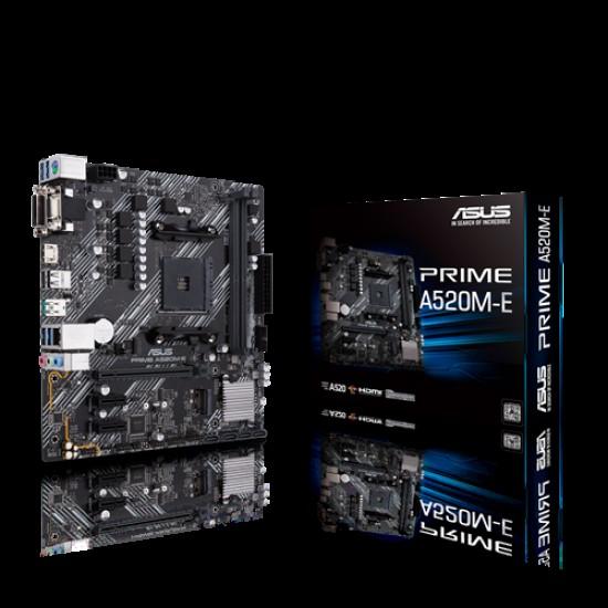 Asus PRIME A520M-E AMD Ryzen AM4 micro ATX Motherboard