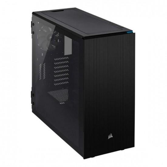 Corsair Carbide Series 678C Low Noise Tempered Glass ATX Case  Black