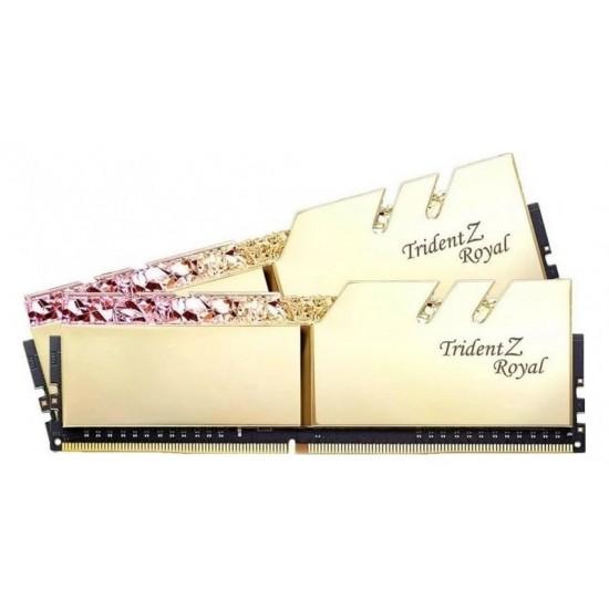 G.SKILL Trident Z Royal Series Gold 32GB (16GBx2) RGB DDR4 3600MHz Desktop Memory
