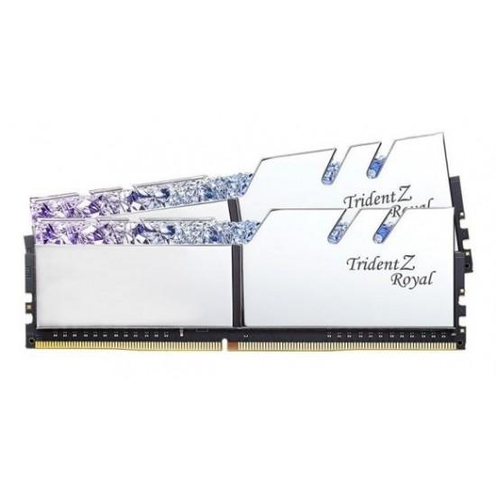 G.SKILL Trident Z Royal Series Silver 16GB (8GBx2) RGB DDR4 3600MHz Desktop Memory