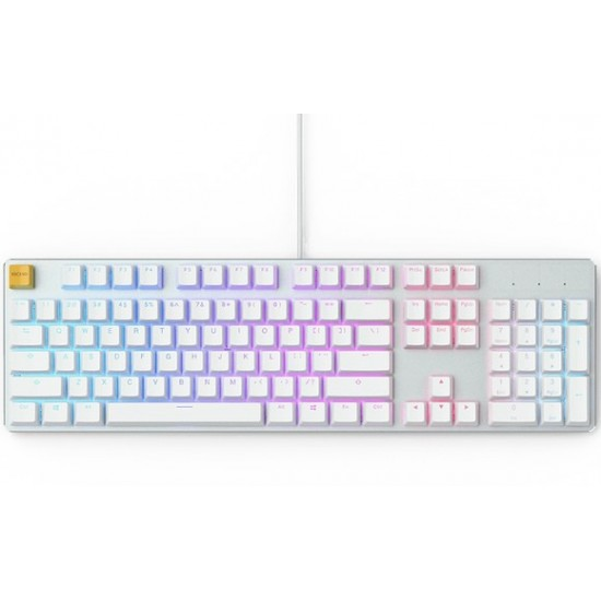 Glorious GMMK White Ice Edition RGB Modular Mechanical Gaming Keyboard