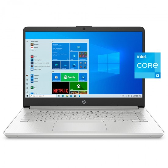 HP 14-DQ2055WM Laptop 11th Gen Intel Core i3 4GB 256GB SSD Intel Graphics 14″ FHD Windows 10 FingerPrint Reader