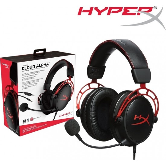 HyperX Cloud Alpha Gaming Headset – Works with PC, PS4, PS4 PRO, Xbox One, Xbox One S (HX-HSCA-RDAS)