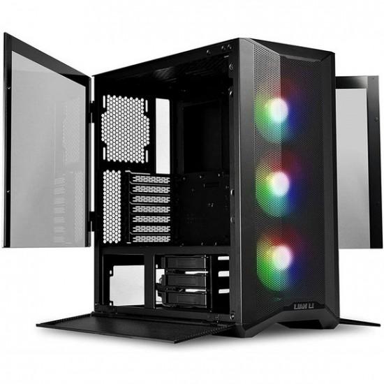 LIAN LI LANCOOL II MESH RGB White LAN2MRX Tempered Glass ATX Gaming Case -Black