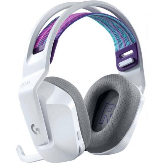 Logitech G733 LIGHTSPEED Wireless RGB Gaming Headset 981-000883 White