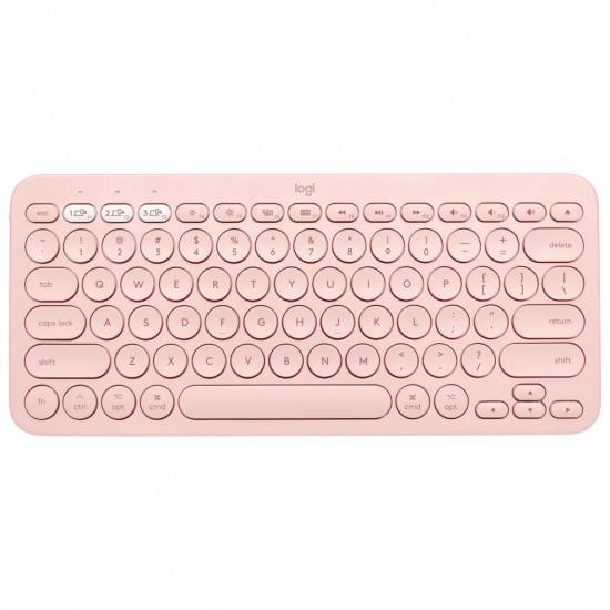 Logitech K380 Multi-Device Bluetooth Keyboard (Rose)