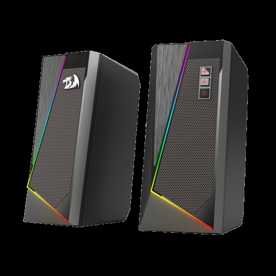Redragon GS520 Anvil RGB Desktop Speakers 2.0 Channel PC Computer Stereo Speaker