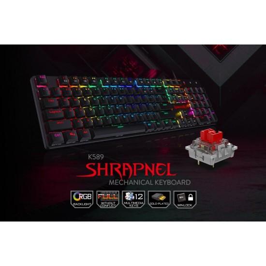 Redragon K589 Shrapnel RGB Low Profile Mechanical Gaming Keyboard (Blue Switches)