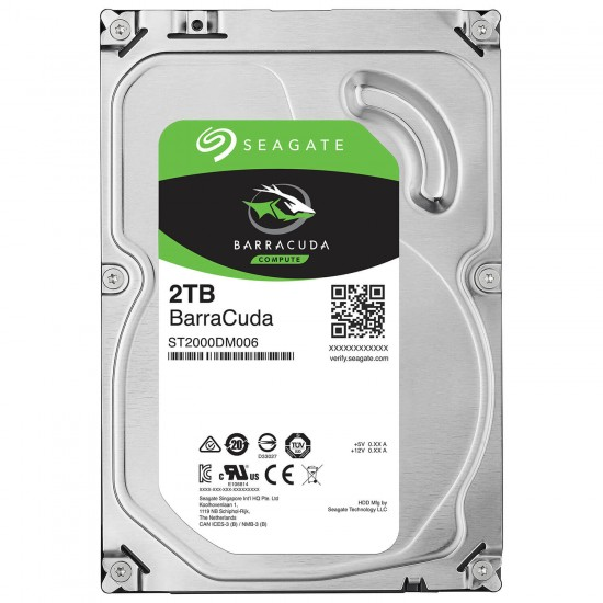 Seagate 2TB BarraCuda SATA 6Gbs 7200 RPM 64MB Cache 3.5 Inch Desktop Hard Drive