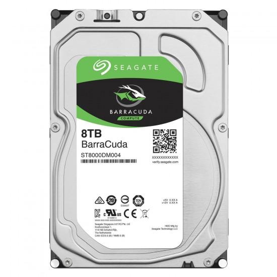 Seagate 8TB BarraCuda SATA 6Gbs 7200 RPM 64MB Cache 3.5 Inch Desktop Hard Drive