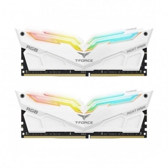 T-Force NightHawk RGB White DDR4 3200MHz 16GB (8GBx2) RAM