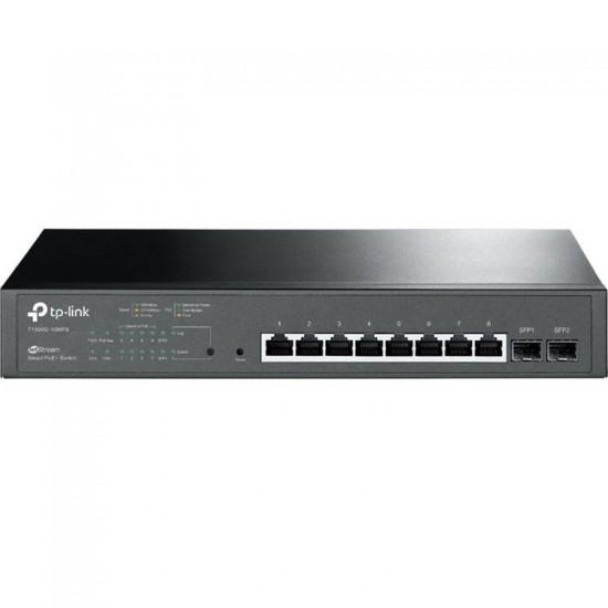 TP-Link T1500G-10MPS JetStream 8-Port Gigabit Smart PoE+ Switch with 2 SFP Slots