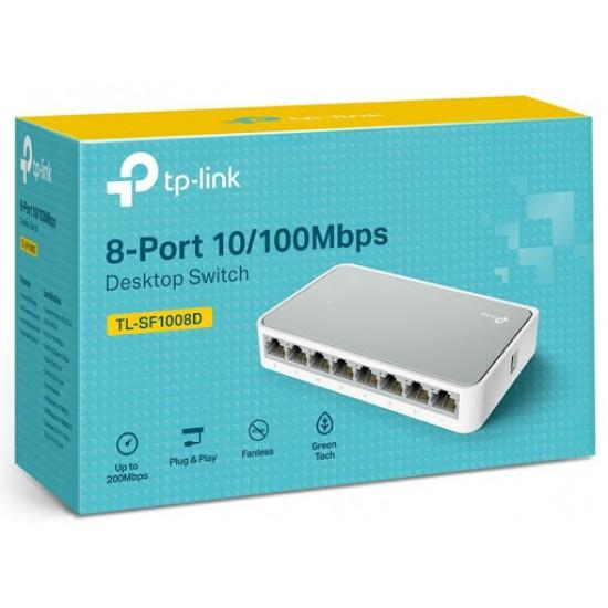 Tp-link TL-SF1008D 8-Port 10100Mbps Desktop Switch