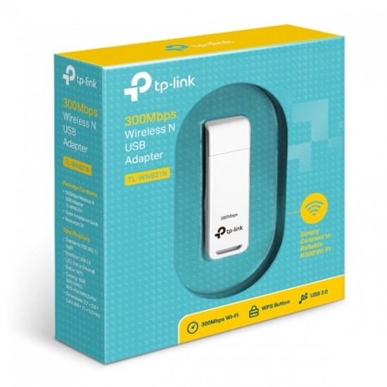 Tplink TL-WN821N 300Mbps Wireless N USB Adapter