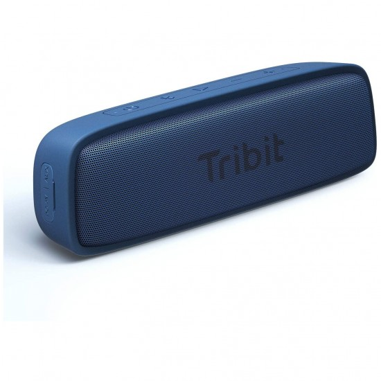 Tribit XSound Surf Bluetooth Speaker Bluetooth 5, IPX7 Waterproof, Wireless Stereo Pairing, USB-C, 100ft Wireless Range Perfect for Home, Outdoor, Travel-Blue