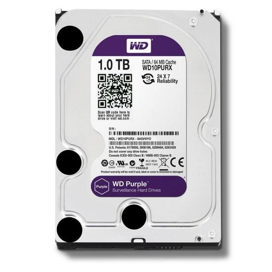 WD Purple 1TB Surveillance Hard Disk Drive 5400 RPM SATA 6 Gbs 64MB Cache 3.5 Inch (WD10PURX)